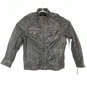 Black Rivet By WILSONS LEATHER leather JACKET COAT